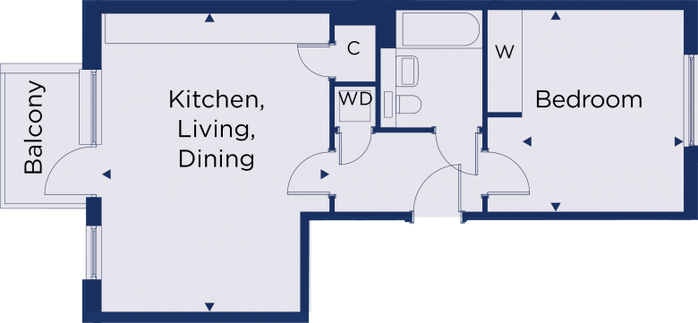 Floorplan for plot 2.26