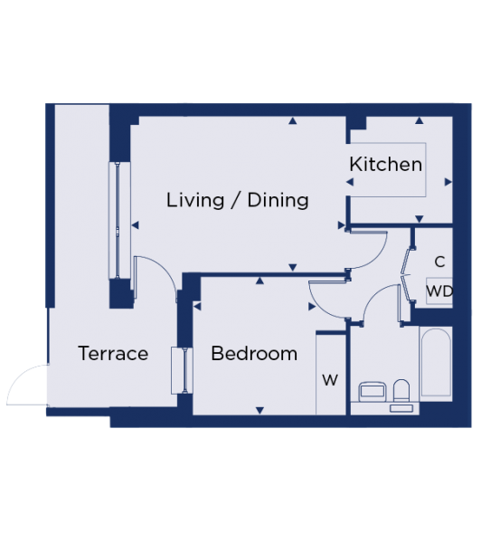Floorplan for plot 1.01