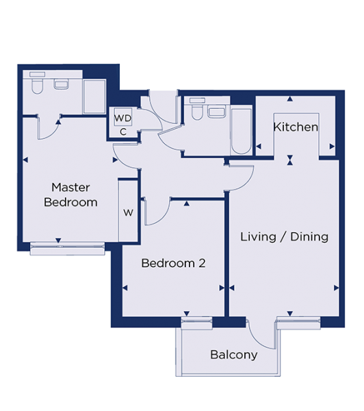 Floorplan for plot 1.25