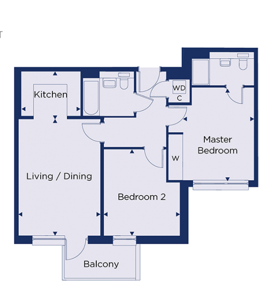 Floorplan for plot 1.36