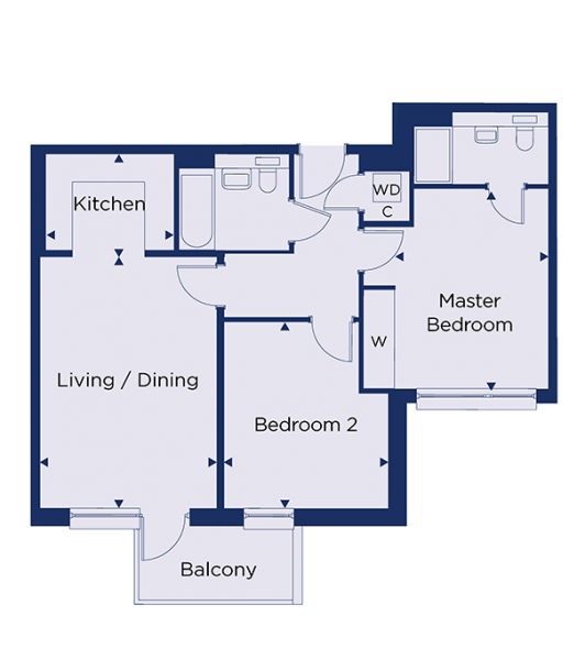 Floorplan for plot 1.69
