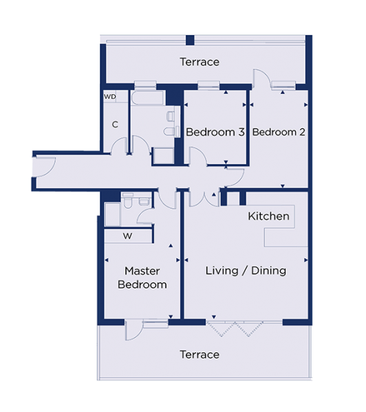 Floorplan for plot 1.82